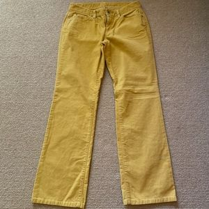 Women's LOFT Yellow Corduroy Pants, Size 6